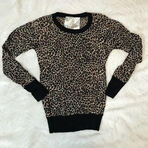 Leopard Cashmere blend Sweater